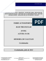 Memoria de Cálculo torre TA 54m - Entel