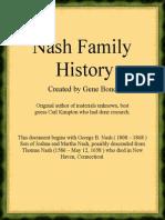 George B Nash Family History