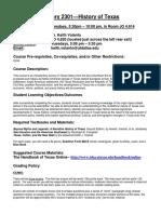 UT Dallas Syllabus for hist2301.5u1.09u taught by Keith Volanto (kjv062000)
