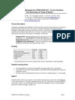 UT Dallas Syllabus for opre6302.5u1.09u taught by   (skolli)