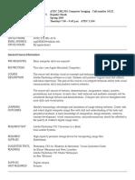 UT Dallas Syllabus for atec2382.501.09s taught by Rajashi Ghosh (rxg058000)