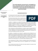Propuesta para la rebaja del IBI en 2015