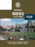 Mbbs Syllabusat the Aiims