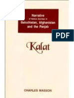 Journeys in Balochistan Afghanistan the Panjab and Kalat Vol 3 (1844) by Charles Masson