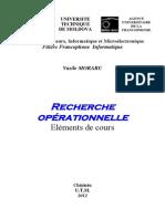 Recherche Operationnelle Elements Cours DS
