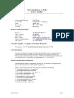 UT Dallas Syllabus for cs2336.501.09s taught by Herman Harrison (hxh017200)