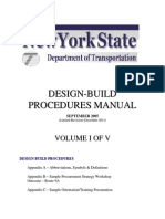 2011 Design Build Manual Volume1 of 5