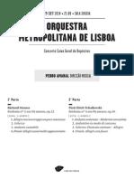 20140925 | Programa de sala Orquestra Metropolitana de Lisboa