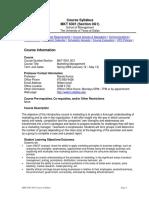 UT Dallas Syllabus for mkt6301.med.09s taught by Nanda Kumar (nkumar)