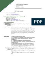 UT Dallas Syllabus for opre6302.mbc.09s taught by Divakar Rajamani (dxr020100)