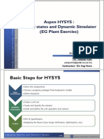 Aspen HYSYS_Steady states and Dynamic Simulator (EG Plant Exercise).pdf