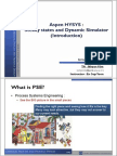Aspen HYSYS_Steady states and Dynamic Simulator (Introduction).pdf