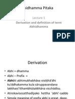 The Term Abhidhamma