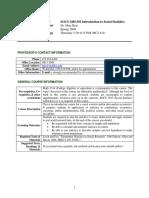 UT Dallas Syllabus for socs3405.501.09s taught by Heja Kim (heja)
