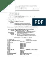 UT Dallas Syllabus for stat4352.501.09s taught by Yuly Koshevnik (yxk055000)