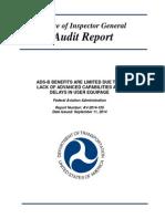 FAA ADS-B Program Audit Report