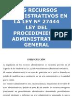 Ley 27444 - Recursos Administrativos.pptx