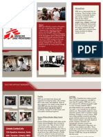doctors without borders brochure