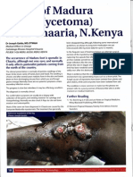 Community dermatology Journal - A case of Madura foot (Mycetoma) from Chaaria - Kenya