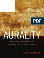 Aurality by Ana Maria Ochoa Gautier
