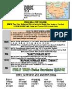 8th week of school hmwk oct 13-17 2014