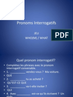 Pronoms Interrogatifs Jeu