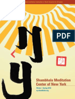 Shambhala Meditation Center of New York 2010 Winter | Spring Program Brochure