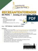 Recreantentornooi BC Latem -De Pinte
