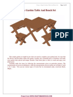 Simple Garden Table and Bench Set Plan