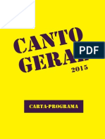 CARTA-PROGRAMA Canto Geral 2015