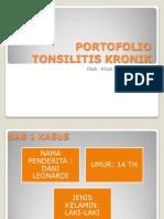 Portofolio Tonsilitis Kronik