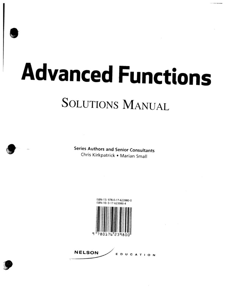 Chapter 1-2 Nelson Solutions Manual