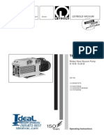 Leybold TRIVAC D16B-D25B Operating Instruction Manual 2