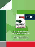 Quinto Informe de Gobierno | Administración 2009-2015 | Gobierno del Estado de Nuevo León