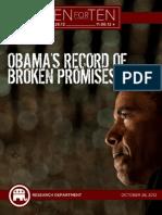 Promises made, Promises broken