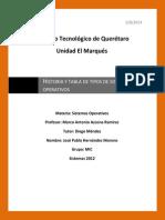 Historia y evolucion de sistemas operativos, y Tabla de tipos de sistemas operativos.docx