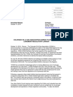 Press Release - COGA Agrees to Dismissal of Longmont oil and gas regulations lawsiut