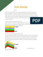 Hukum Dasar Geologi