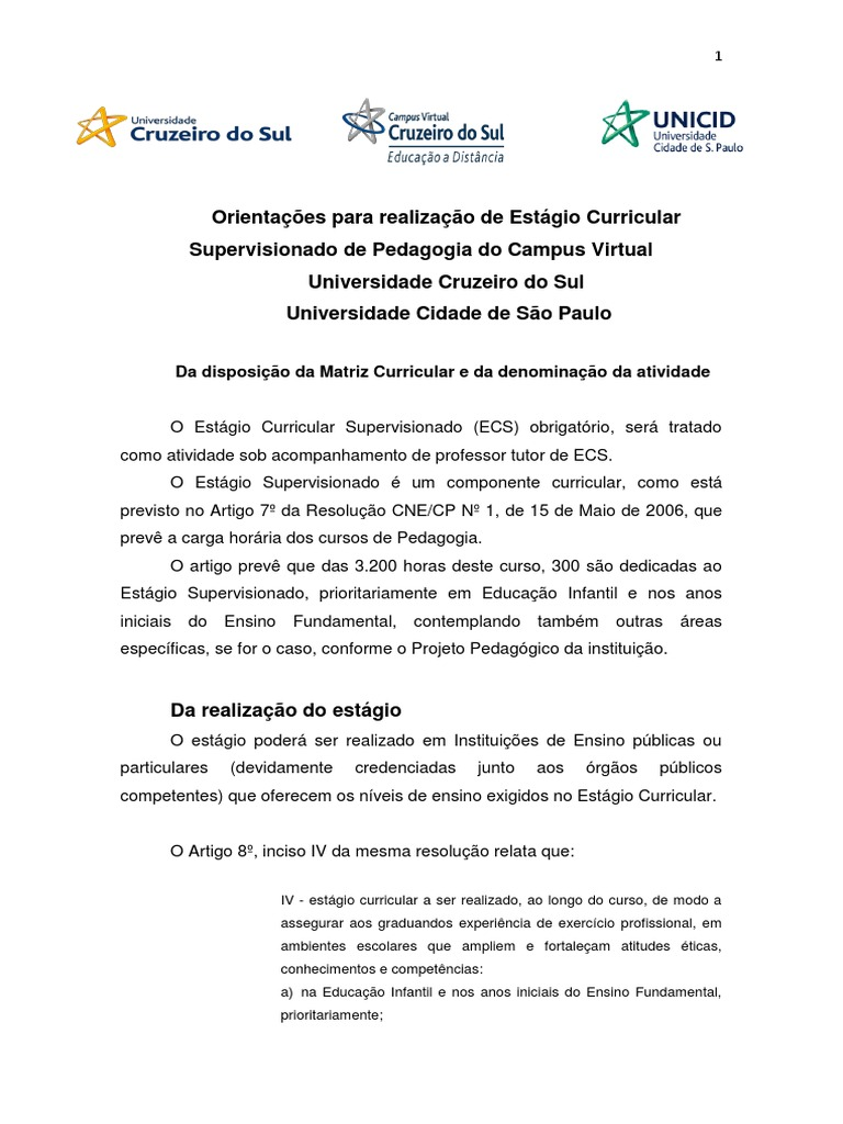Relatório De Estágio Licenciatura Em Química Modelo