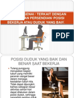 Ergonomis - Cara duduk yang baik.pptx