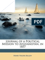 Journal of a political Mission to Afghanistan in 1857(1862) by H.W. Bellew