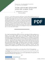 Tague 2008 Debates on an 18c Dog Tax