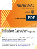Renewal Progress Report Aug 14