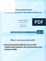 Promoting Environmental Health in Communities PowerPoint With Slide Transitions