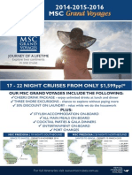 MSC Cruises GrandVoyages 2015 Expo