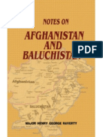 Notes on Afghanistan and Baluchistan--Geographical Ethnographical and Historical (1880) by Major Raverty