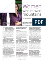 Rice Today Vol. 13, No. 4 Women who moved mountains