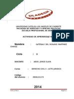 DERECHO CIVIL II - ACTO JURIDICO.doc
