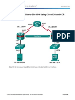8.7.1.1 Lab - Configuring a Site-To-Site VPN Using Cisco IOS and CCP