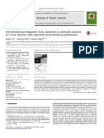 2012 - One-dimensional Magnetite Fe3O4 Nanowires as Electrode Material